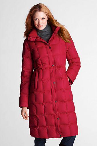 Women&39s Down Chalet Long Coat from Lands&39 End | Winter Coats