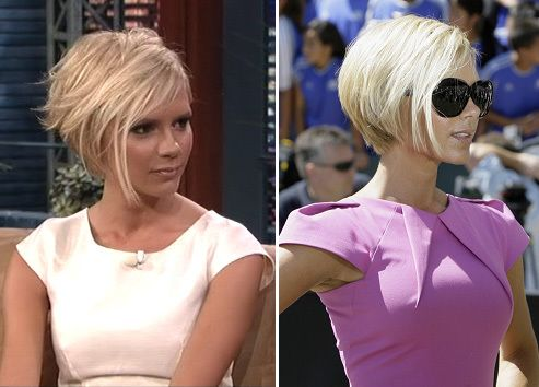 Marvelous Bobs Victoria Beckham Short Hair And Celebrity Hairstyles On Hairstyles For Women Draintrainus