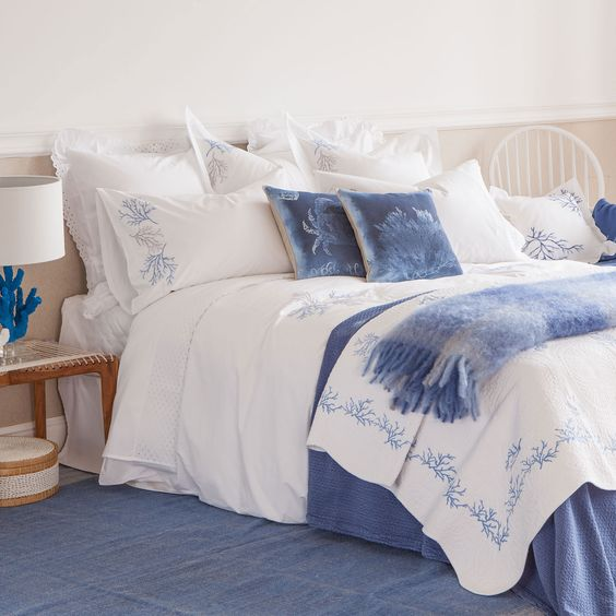 CORAL EMBROIDERED BEDDING - Bedding - Bedroom | Zara Home United States