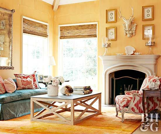 How To Decorate Your Living Room With Cheery Yellow Yellow Walls