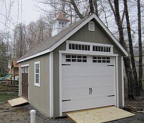 Modular garage photo detached garage pinterest for Prefabricated detached garage
