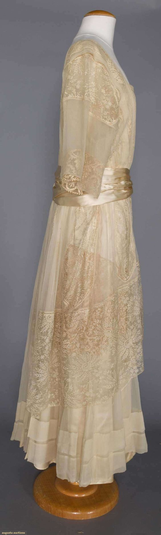 Evening Gown (image 3) | 1914 | silk, lace | Augusta Auctions | November 16, 2016