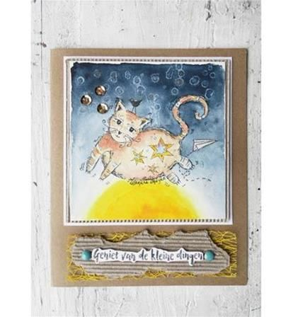 Boutique scrapbooking - Tampon Marianne Design chat dessin