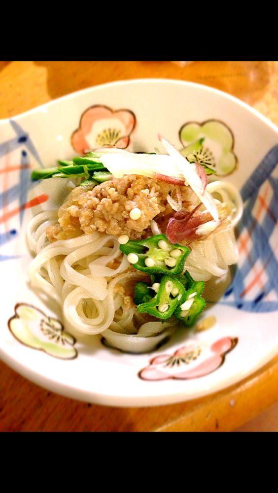 肉味噌うどん udon with nikumiso