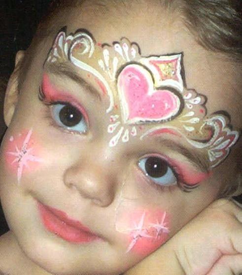 princess face painting pretty makeup fantasy , maquillaje fantasia  pintacaritas princesa ♛