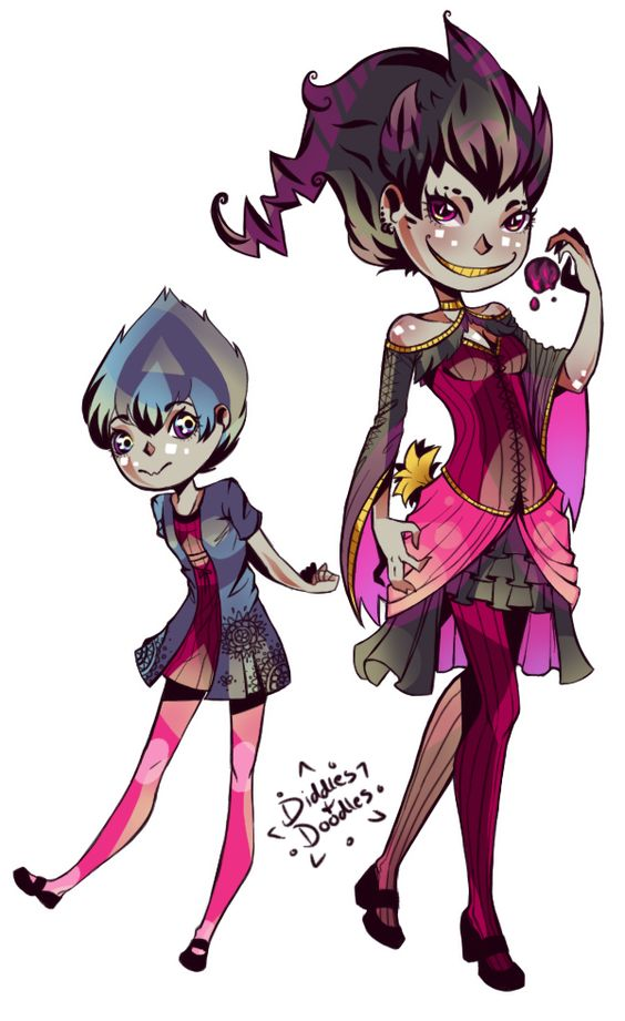 Gijinka-dex banette and shuppet | Gijinkadex | Pinterest