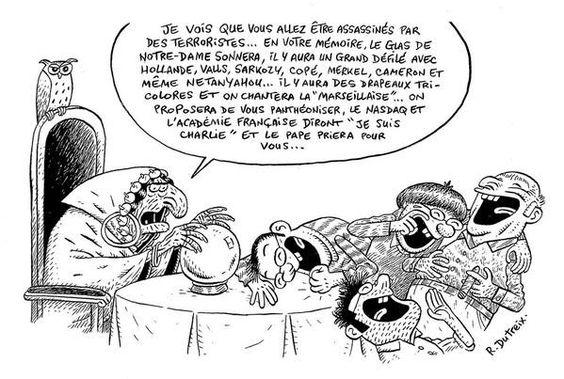 Dutreix en pleine forme dans fluide glacial ! #CharlieHebdo