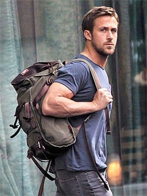 #ryangosling pulling off that masculine chilled out rugged look.
