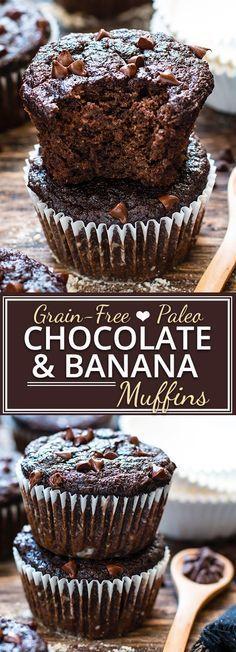 Paleo Chocolate Banana Muffins