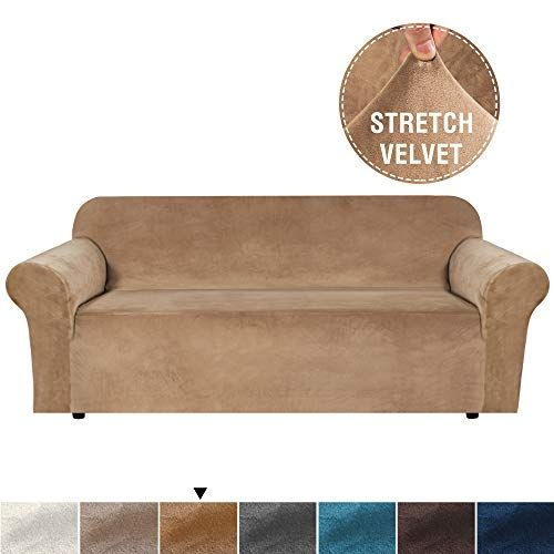 H Versailtex Stretch Extra Large Velvet Plush Sofa Slipco Https