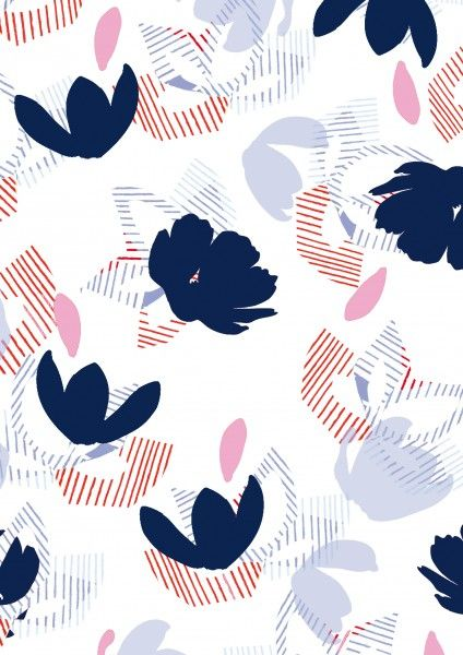 navy and pink, design, pattern, print, texture, stripe, spring floral, summer, colour, modern