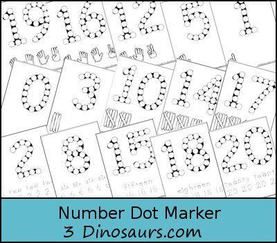 free number dot marker worksheets pre school learning fun pinterest thanksgiving the o. Black Bedroom Furniture Sets. Home Design Ideas