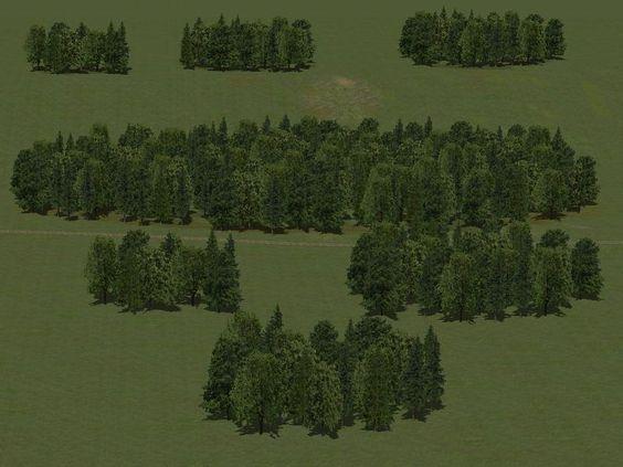 Laub- und Nadelbäume als Reihen und Gruppen. Ab #EEP8 http://bit.ly/Laub-und-Nadelbäume