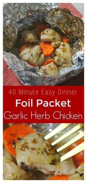 Garlic Herb Chicken Foil Packets