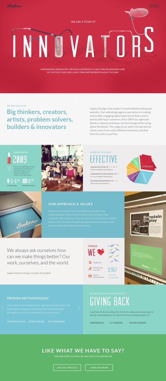 Creative company websites
