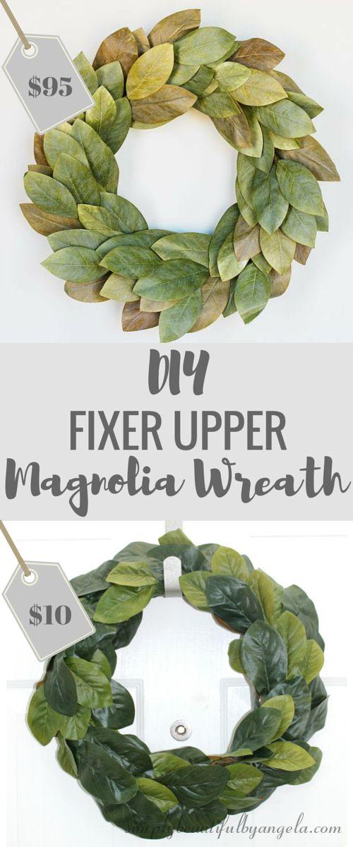 Simply Beautiful by Angela: DIY Fixer Upper Magnolia Wreath