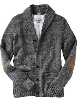 Men's Shawl-Collar Donegal Cardigans   Old Navy