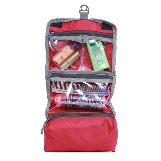 Yark Polyester Travel Kit In Red Color