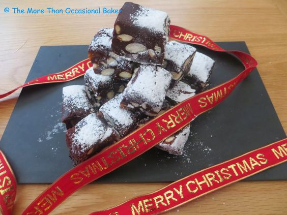 Chocolate and Fig Panforte from @bakingaddict for #Festive #FamilyFoodies