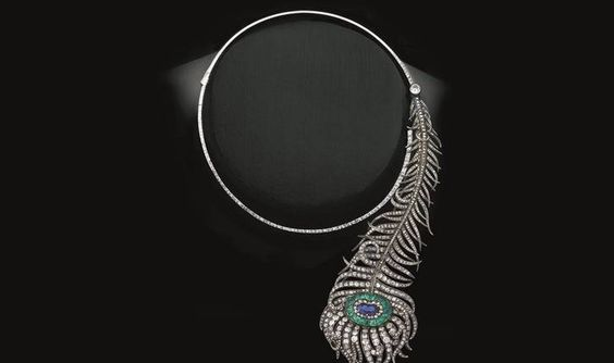 Peacock Feather Necklace/Brooch