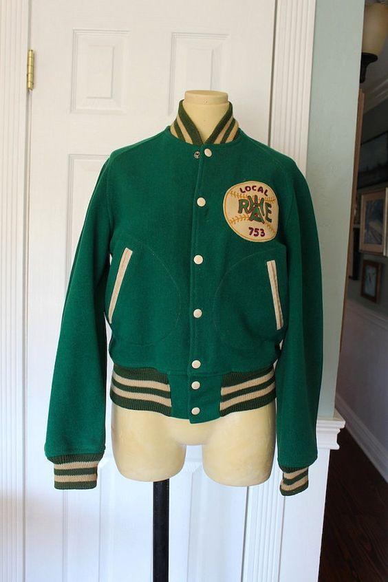 Antique - Womens - Small - Softball Jacket - Baseball - Green