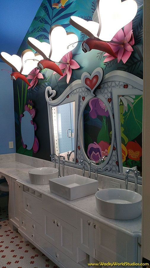 Alice In Wonderland Themed Bathroom Get Your Own Themed