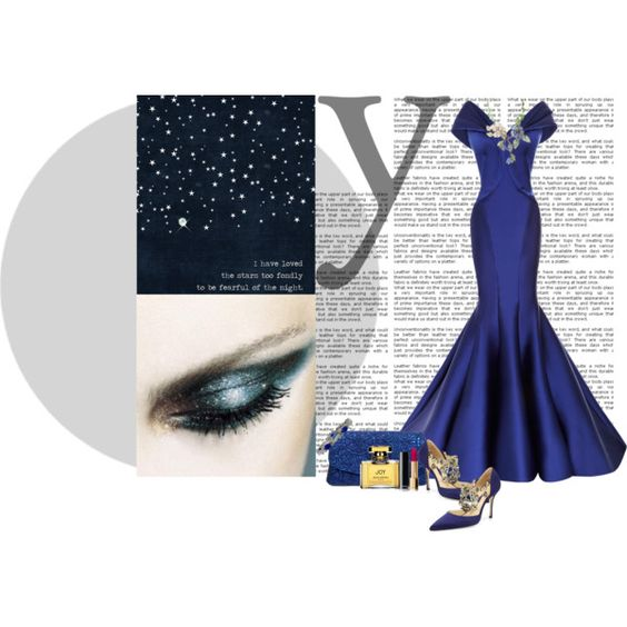 I have loved the stars to fondly.. by confusgrk on Polyvore featuring polyvore, fashion, style, Zac Posen, Manolo Blahnik, Van Cleef & Arpels, Jean Patou and clothing