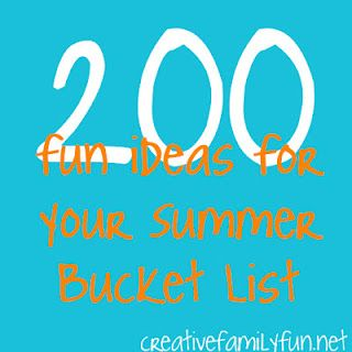200 Fun Ideas for Your Summer