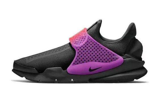 New Arrival 2017 Running Shoe Nike Sock Dart Slip On Black Hyper Grape
