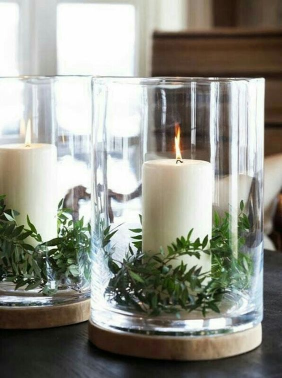 Boxwood and candles