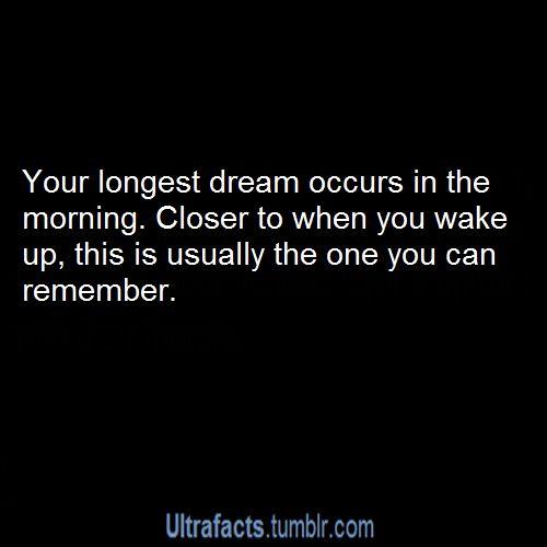 I always feel like my dreams are right before I wake up. Strange!
