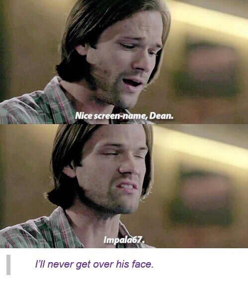 Sam Winchester Supernatural. His face is a treasure.
