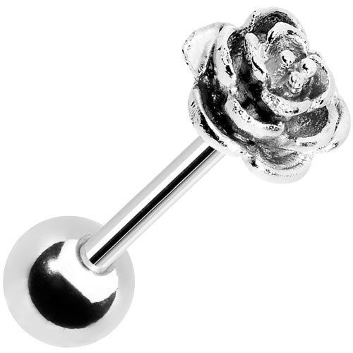 Stainless Steel Flower Barbell Tongue Ring Body Candy. $9.99. Save 67%!