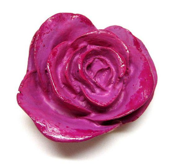 Rosa em cerâmica Para composição peças de artesanatos caixas, painéis,quadros,mosaicos etc pintura a frio cor ROSA R$ 5,20