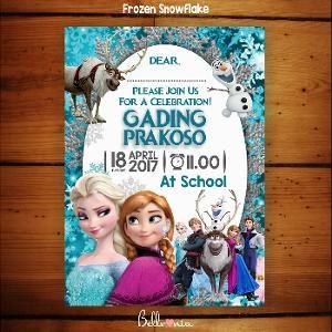 Undangan Ulang Tahun Frozen 01 Birthday Invitations Frozen Snowflake Invitations
