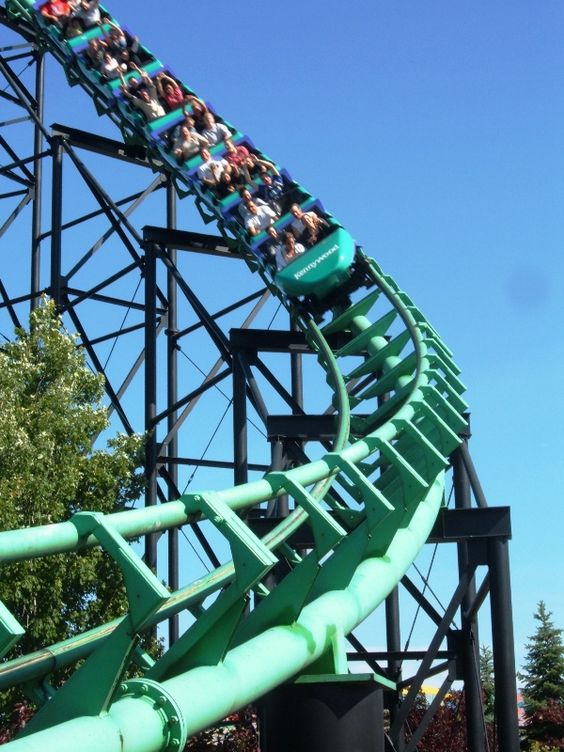 Kennywood Amusement Park boasts the Phantom's Revenge, among other classic rides.  Can't wait to take my boys !!