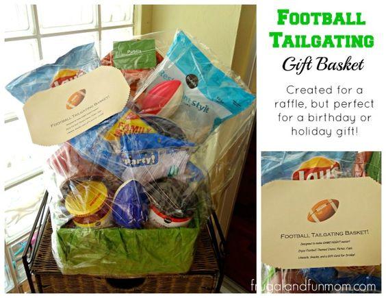 Classroom Theme Basket Ideas ~ Football themed gift basket idea classroom ideas