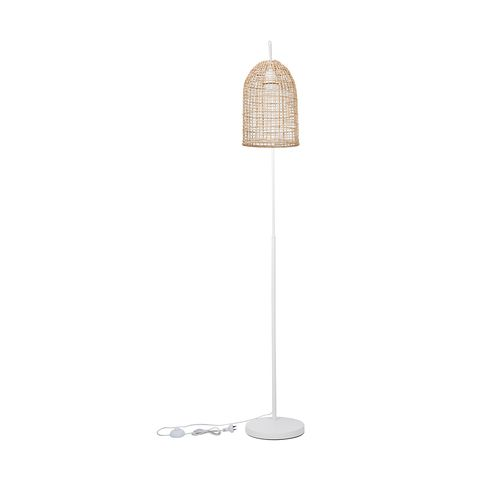 Rattan Shade Floor Lamp In 2020 Rattan Shades Floor Lamp Lamp