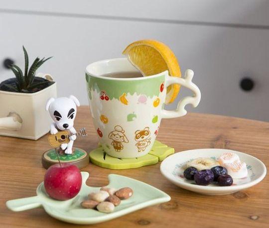 Retro Nintendo Animal Crossing Tea Set Released By Ichiban Kuji Animal Crossing Animal Crossing 3ds Animal Party