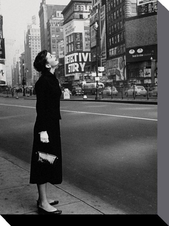 Audrey Hepburn - Broadway - Time Life - Official Canvas Print