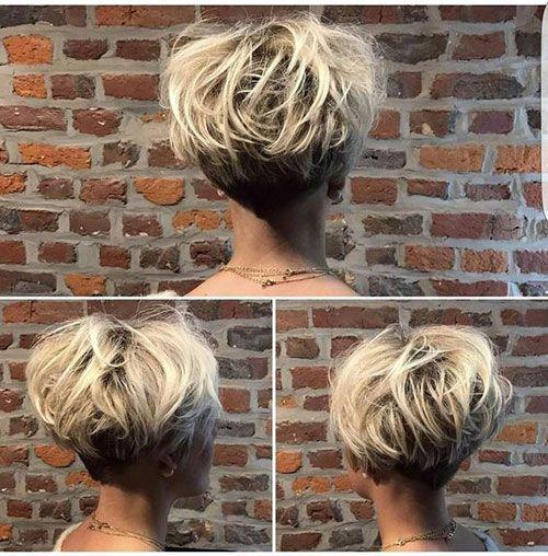Short Stacked Haircuts Short Stacked Haircuts Thick Hair Styles Short Stacked Hair