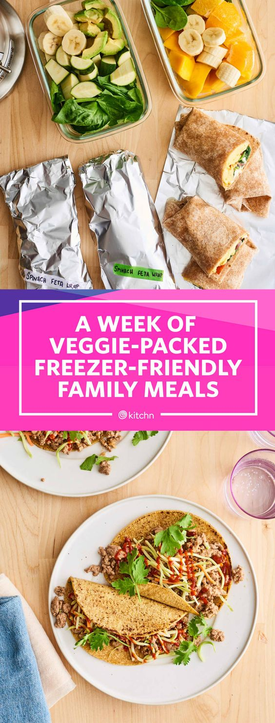 Meal Prep Plan: A Week of Veggie-Packed Freezer-Friendly Family Meals