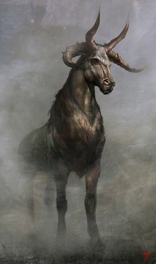 The elhorn (horned horse) by VirginieCarquin