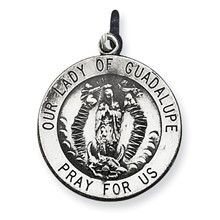 Our Lady Of Guadalupe Medal; Charm in Sterling Silver