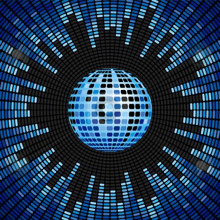cutcaster-photo-100179377-Blue-Disco-Ball-and-Equalizer-Background.jpg (450×450)