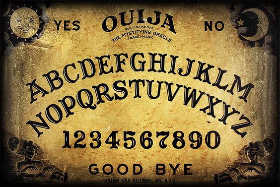 """Ouija Board!  We played with one. I think my mom still has it somewhere. AND no we never had """"evil"""" spirits!"""