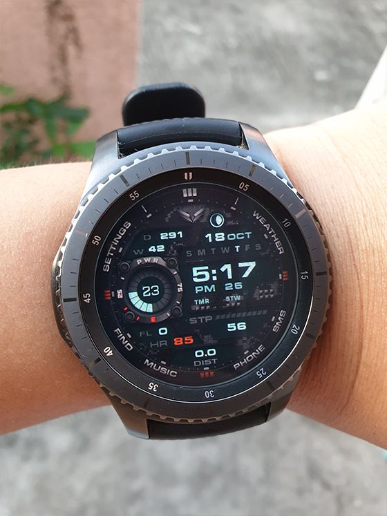 Ballozi Stealth Marine The 2nd Watch Face Member From The Stealth Family Model For Galaxy Watch Gear S3 Gear Sp Samsung Watches Tactical Watch Tech Watches