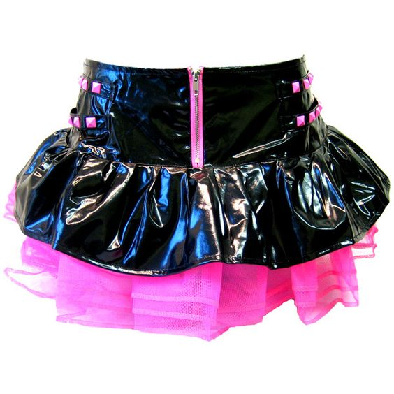 Hell Bunny PVC Tutu Skirt Black & Pink - Alternative, Gothic, Emo... (1.585 RUB) ❤ liked on Polyvore featuring skirts, bottoms, saias, tutu, pink pvc skirt, goth skirt, gothic lolita skirts, hell bunny and tutu skirts