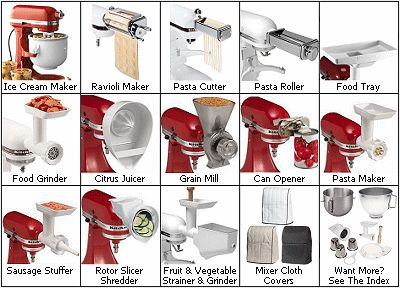 Kitchenaid Stand Mixer Optional Attachments For The Kitchen Pinterest Mixers And