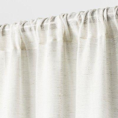 Light Filtering Curtain Panel Natural Linen Look 108 Threshold